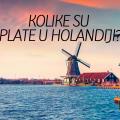 Kolike su plate u Holandiji ?
